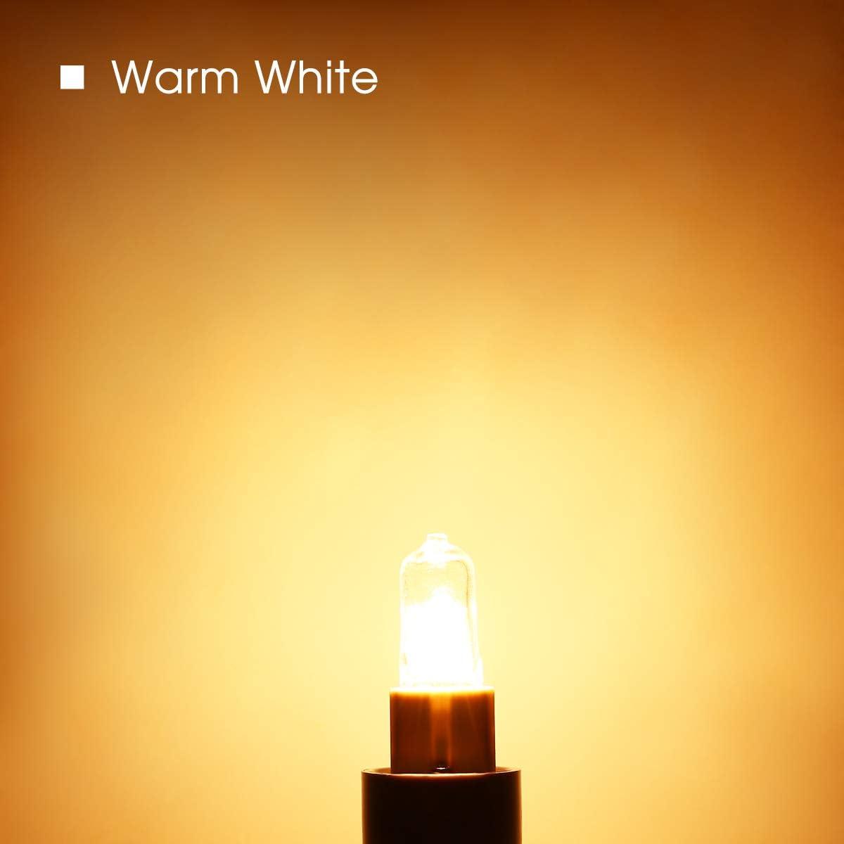 Angolo del Fascio 360/° Luce Bianco Caldo 3000K Parete Lampadine G9 Gallerie 10 Pezzi Fulighture Lampadina Alogena Comodino 25W Lampadine Dimmerabili per Lampadario