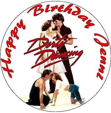 7,5 Dirty Dancing Sunluxy tarta de cumpleaños comestibles: Amazon.es: Hogar
