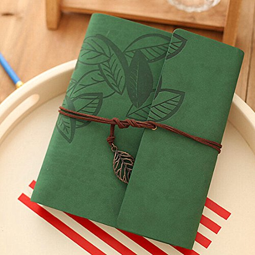 - BiuBiu Home Scrapbook Album,Leather Leaf Pattern Vintage Photo Album Family DIY Memory Retro Photo Book Guestbook for Anniversary Mother Birthday Valentine 60 Pages(Green)