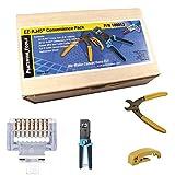 Platinum Tools 100012 EZ-RJ45 Termination Kit (Crimp, Cut, Strip Tools) 50 Cat 5