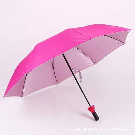 GJYWHF Botella De Vino para Mujer Paraguas Sol-Lluvia UV ...