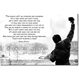 Dawn sky Rocky Balboa - Motivational Quotes Art Silk Poster 24x36 inch