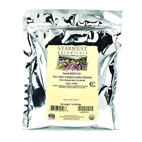 Starwest Botanicals Organic Cured Fo-Ti Root Powder, 1 Pound by Starwest Botanicals