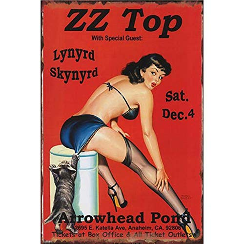 YOMIA Retro Vintage Tin Signs Painted Beautiful Sexy Woman Poster Metal Signs Wall Art Metal Poster Plaque Office Hobby Shop Cafe Pub Collector Magnetic Advertising Custom - Magnetic Tin Sign