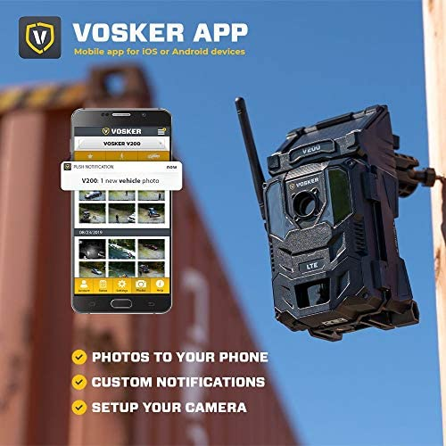 Vosker V200 | Cellular Security Camera | Security Pack | Most Popular Accessories | LTE Wireless Built-in Solar Panel | Weatherproof, No Wi-Fi Required | HD Surveillance Cameras