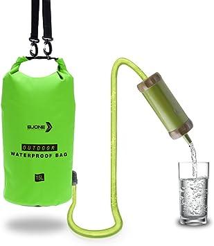 hxss emergencia Camping agua filtro purificador de agua portátil ...
