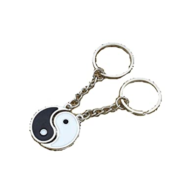 Amazon.com: 1 par de China Yin Yang Negro y Blanco Esmalte ...