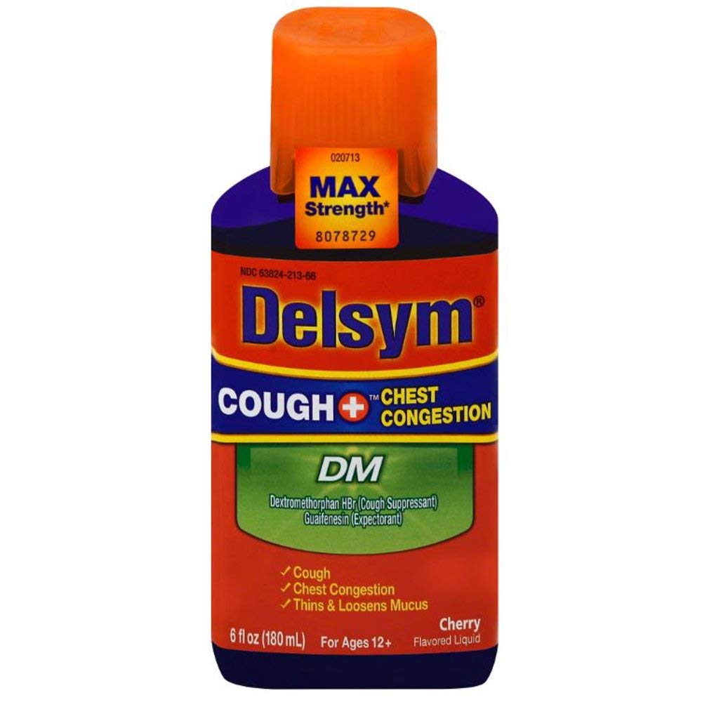 Delsym Cough + Chest Congestion DM Liquid Cherry - 6 oz, Pack of 3 by Delsym