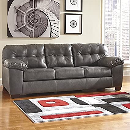 Amazon.com: BOWERY HILL Sofa in Gray: Kitchen & Dining