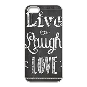 Custom Colorful Case for Iphone 5,5S, Live, love, laugh Cover Case - HL-507422