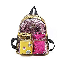 Reversible Magic Sequins School Backpack