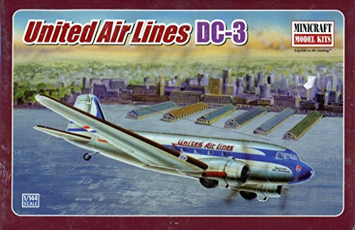 Minicraft 1:144 United Air Lines DC-3 Plastic Aircraft Model Kit #14509