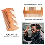 Beard-Brush-and-Comb-Set-for-Men-Liberex-Handmade-Wooden-Comb-and-Boar-Bristle-Beard-Brush-Kit-with-Friendly-Gift-Box-and-Cotton-Bag-Best-Partner-for-Grooming-Facial-Hair-or-Great-Gift-Idea