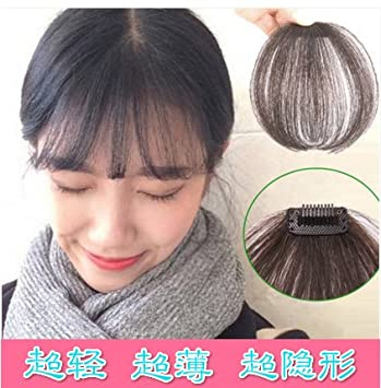 Amazon.com: Ganchillo flequillo peluca de cabello humano ...