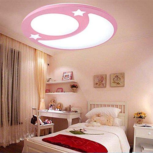 Sflash warmweiß Deckenleuchte Dechenlampe Kinderleuchte rosa Mond ...