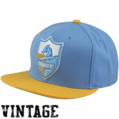 San Diego Chargers Big Logo Blue/Yellow Adjustable Snapback Hat / Cap by Mitchell & Ness