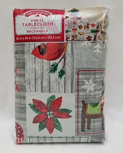 Holiday Homespun Patch Vinyl Tablecloth (60 x (Holiday Vinyl)