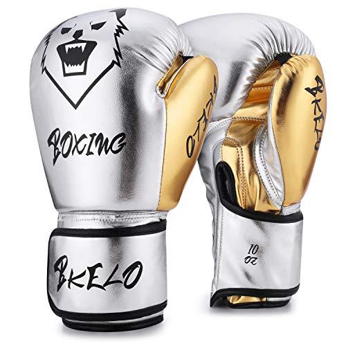 Boxing Gloves, Training Fight Gloves Kickboxing Gel Sparring Gloves, Muay Thai Style Punching Heavy Bag Mitts Pro Grade for Men & Women