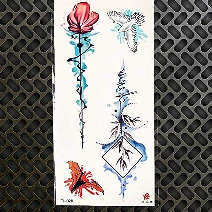ruofengpuzi Adesivo tatuaggioSexy Tatuaje Temporal Acuarela Dibujo ...