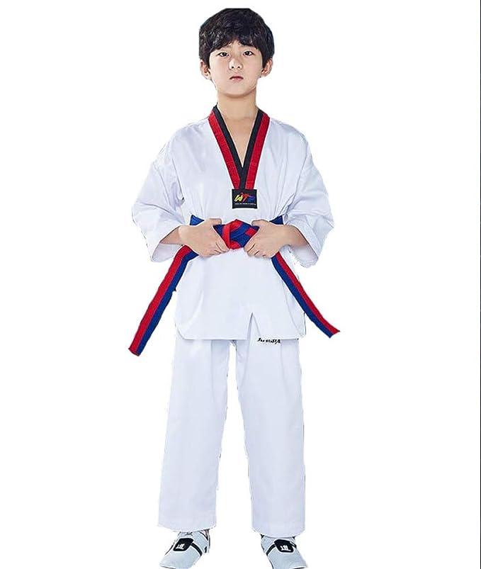 dududrz Traje De Taekwondo Ninos V Cuello Dobok Taekwondo ...
