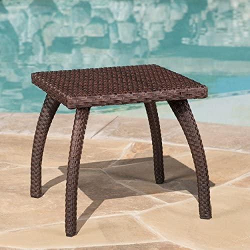 Christopher Knight Home 296727 Woodridge Outdoor Brown Wicker Accent Table