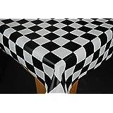 Chef Check Original Black and White PVC 200 x 140cm Wipe Clean Tablecloth by Karina Home by Karina Home