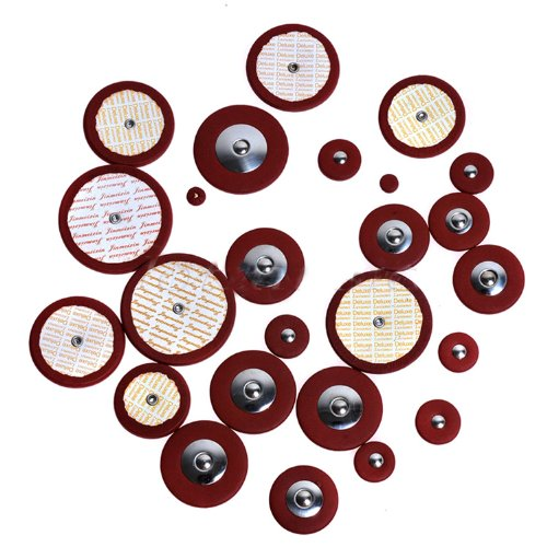 Kmise A8148 Professional 25 Piece Red Leather Tenor Saxophone Pads with Resonators Woodwind Sax Parts (Red Tenor Saxophone compare prices)