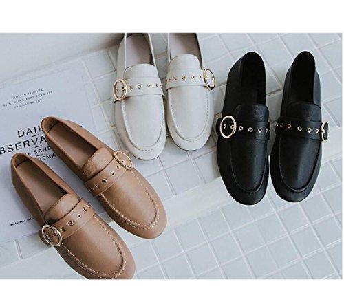 Plate Confort Boucle De Souple En Cuir Zfnyy Mode Chaussures Ceinture Ronde Femme w10cqfnRW