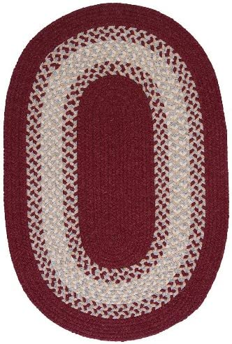 Colonial Mills North Ridge Red Oval 12 0 x15 0 Braided Area Rug
