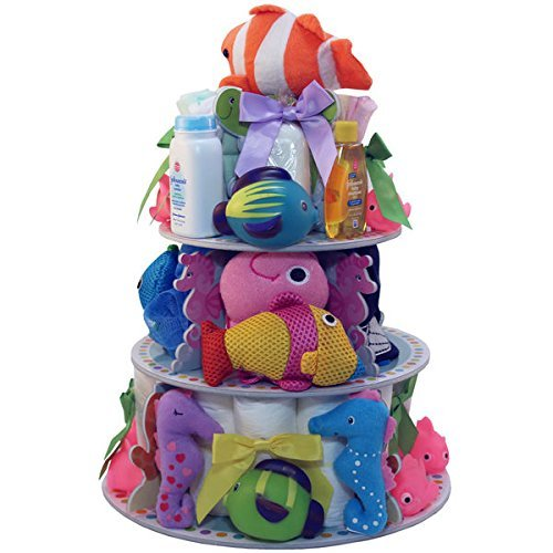 Art of Appreciation Gift Baskets Under the Sea Baby Bath Gift Tower