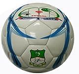 Low Bounce Practice Futsal Soccer Ball White Blue Size 4
