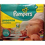 Pampers Swaddlers Size Preemie Mini Pack 20 Count (Pack of 12)