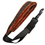 Xinlink Professional Brown Soft Padded Saxophone Neck Strap with Snap Hook for Alto Tenor Soprano Baritone Sax Music Accessories