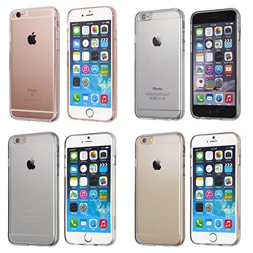 iPhone 6 Plus Case, flexibel, schlank, stoßdämpfend, kristallklar, weich, haltbares TPU, Schutzhülle für Apple iPhone 6 Plus – durchsichtig | totallee (klar)