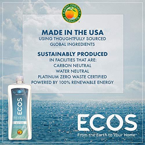 شراء ECOS Dishmate Dish Liquid, Free and Clear 25 oz. (Pack of 2)