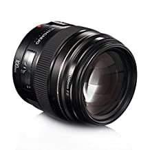 YONGNUO YN100mm F2 Lens Large Aperture AF Lens 100mm Medium Telephoto Prime Lens for Canon EOS EF Mount Cameras with TARION Portable Case