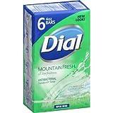 Dial Mountain Fresh Antibacterial Deodorant Soap, 4 oz, 6 count