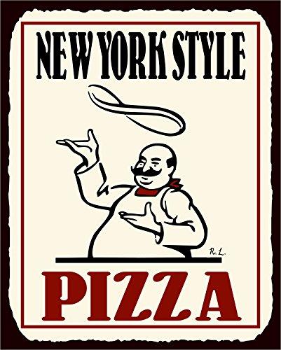 New York Pizza Vintage Metal Art Italian Pizzeria Retro Tin Sign