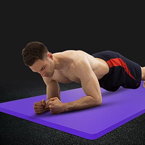 JIAYIBAO Yoga Tapis 6mm Épaississement Haute Densité PVC Slip Fitness Tapis (violet 173cmx61cm)