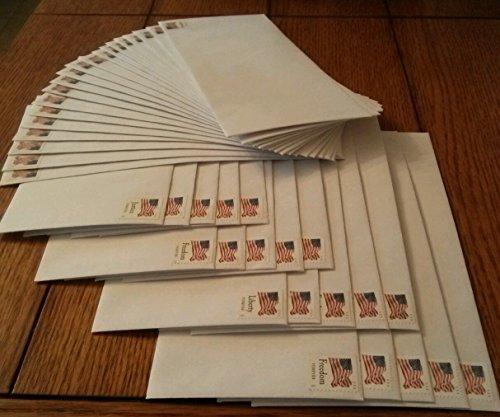 Self Stamped Envelope - 500 Forever Stamped Envelopes - #10 Security Self Seal Envelopes (4-1/8 x 9-1/2 inch)
