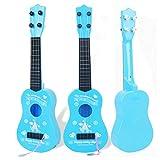 Plastic-Kids-Guitar-Musical-Instruments-Educational-Toys-Ukulele-Baby-Toys-Blue