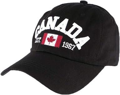 Canada Hommes Casquette De Baseball Noir