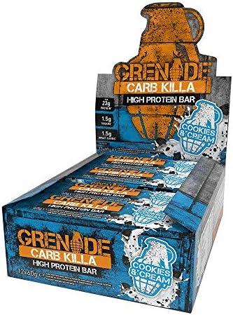 Grenade Carb Killa, Cookies & Cream - 12 bar 1er Pack(1 x 100 g)