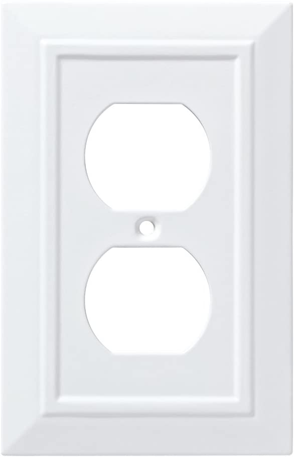 Franklin Brass W35242-PW-C Classic Architecture Single Duplex Wall Plate/Switch Plate/Cover, White