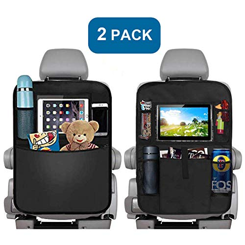 - Backseat Car Organizer for Kids, Kick Mats Back Seat Car Protector, Multi-Pocket Car Hanging Storage Bag for iPad Tablet Bottle Drink Tissue Box Toys Vehicles Travel Accessories