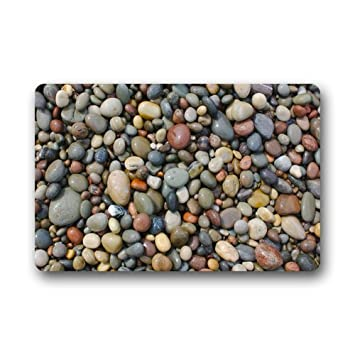 Exceptional Shirleyu0027s Door Mats Pebble Stone Machine Washable Fabric Non Slip Rubber  Backing Indoor / Outdoor