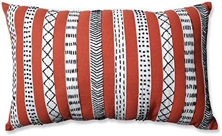 Pillow Perfect Tribal Bands Rectangular Throw Pillow, Rust Cream Black