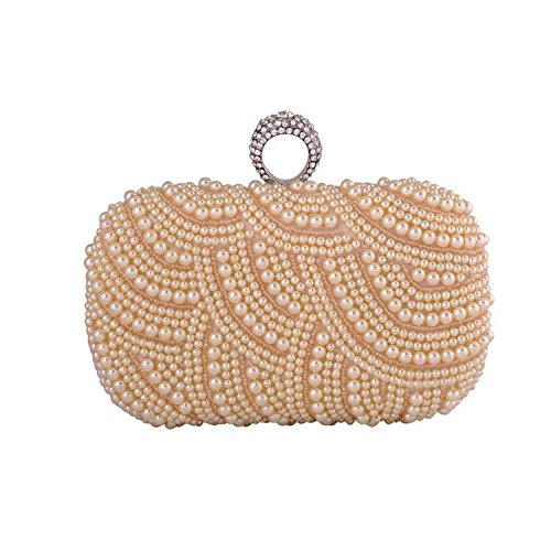 Female Bag Rhinestone Bags Beaded Party Evening Champagne Clutch Women Rising Pearl ON With Ladies Purse qpwTO7vtxX