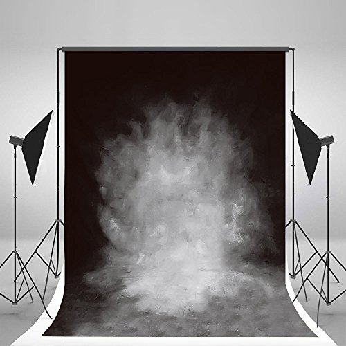 LB 5x7ft Vintage Grey Muslin Photography Background Customized Photography Backdrop Studio Prop 14-338 (New Material) from LB