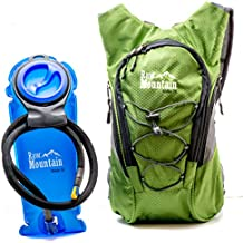 Hydration Pack with FREE 2L Water Bladder by Raw Mountain. Rucksack great for Outdoors, Running, Hiking, Climbing & Cycling. Adjustable Shoulder & Waist Straps to fit Men, Women, Kids